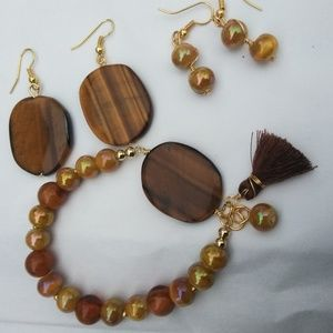 Jewelry - 3 pc tiger eye jewelry set